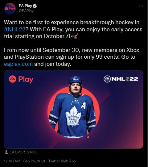 EA Play en Twitter