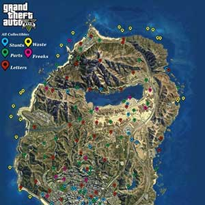 GTA 5 XBOX ONE Mapa coleccionables