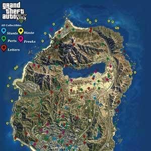 GTA 5 PS4 Mapa coleccionables