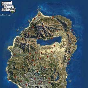 GTA 5 PS4 Mapa de letras de Recortes