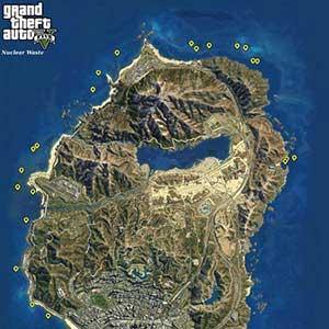 GTA 5 PS4 Mapa de la basura nuclear