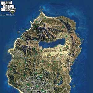 GTA 5 PS4 Mapa del vehículo espacial extranjero
