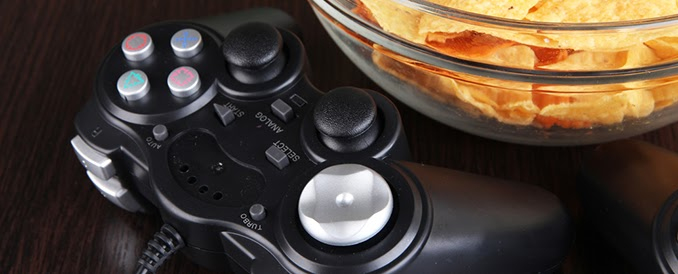 Controller and a Bowl of Chips