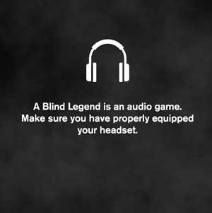 A Blind Legend Equipado Auriculares
