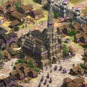 Age of Empires 2 Definitive Edition Lords of the West Centro de la ciudad