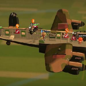 Un avión bombardero