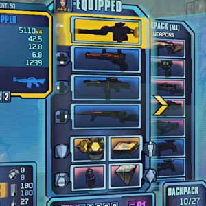 Borderlands 2 Sir Hammerlock's Big Game Hunt - Inventario de Equipo