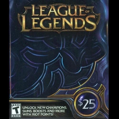 Comprar League Of Legends 25 USD 3280 Riot Points US Tarjeta Prepago Comparar Precios