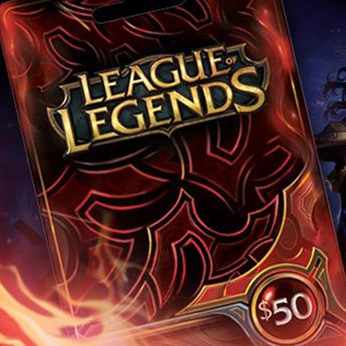 Comprar League Of Legends 50 USD Prepaid RP Cards US Tarjeta Prepago Comparar Precios
