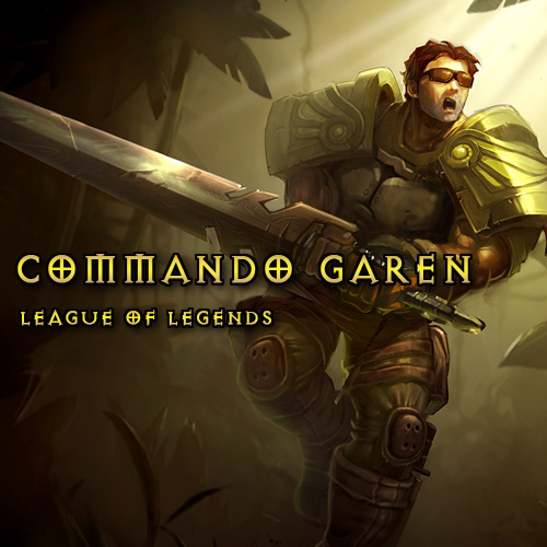 Comprar League Of Legends Skin Commando Garen LAN Tarjeta Prepago Comparar Precios