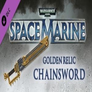 Warhammer 40 000 Space Marine Golden Relic Chainsword