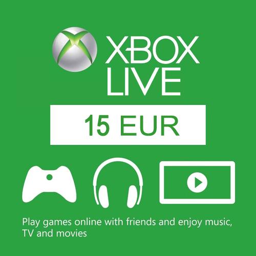 Comprar 15 Euro Card EU Xbox Live Code Comparar Precios