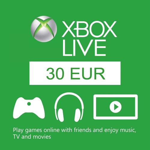 Comprar 30 Euro Card EU Xbox Live Code Comparar Precios