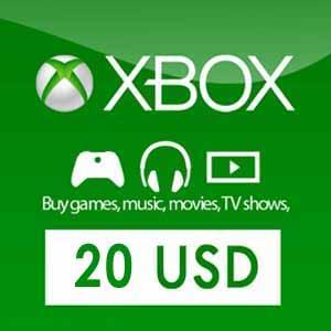Comprar US 20 USD Card Xbox Live Code Comparar Precios
