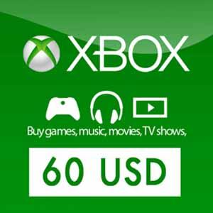 Comprar US 60 USD Gift Card Xbox Live Code Comparar Precios