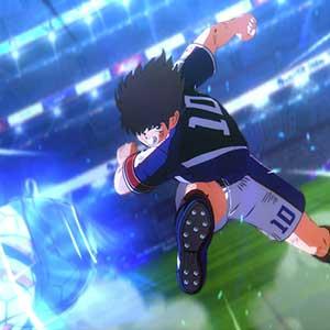 Captain Tsubasa que chocan entre sí