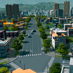 Cities Skylines Roads at City Center