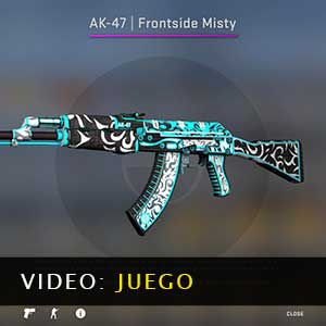 CSGO AK47 Skin Frontside Misty Vídeo del juego
