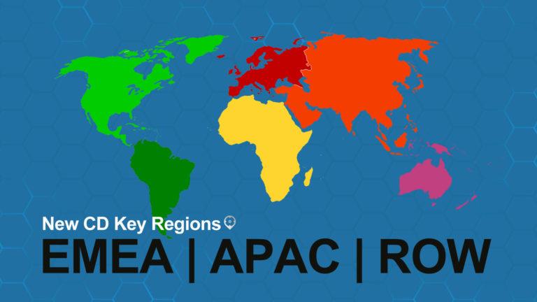 EMEA APAC RoW Régions