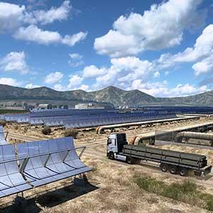Euro Truck Simulator 2 Iberia Paneles solares
