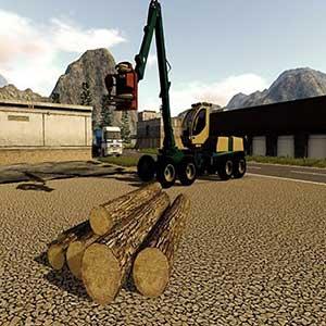 Farming 2017 The Simulation Vehículo de madera de corte