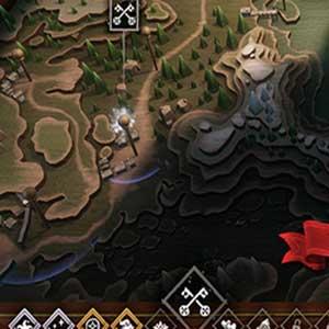 Selección del mapa de Hand of Fate