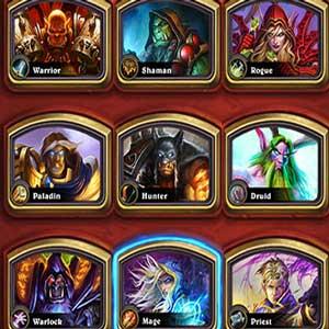 Hearthstone Heroes of Warcraft Deck of Cards Héroes Selección