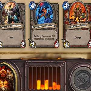 Hearthstone Heroes of Warcraft Deck of Cards Selección de tarjeta