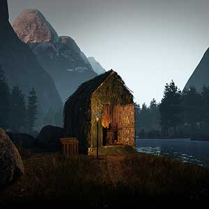 Icarus Cabaña cerca de un lago