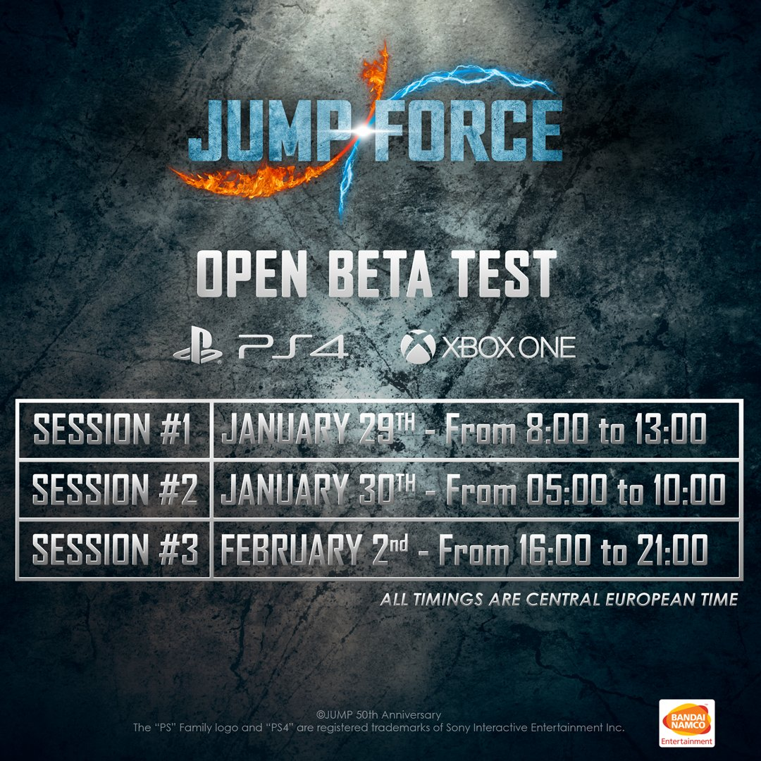 Jump Force Updated Beta Schedule