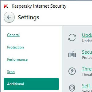Kaspersky Anti Virus 2019 additional
