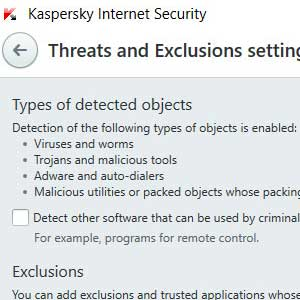 Kaspersky Anti Virus 2019 detection