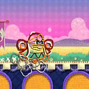 Kirby had been transformed into yarn himself