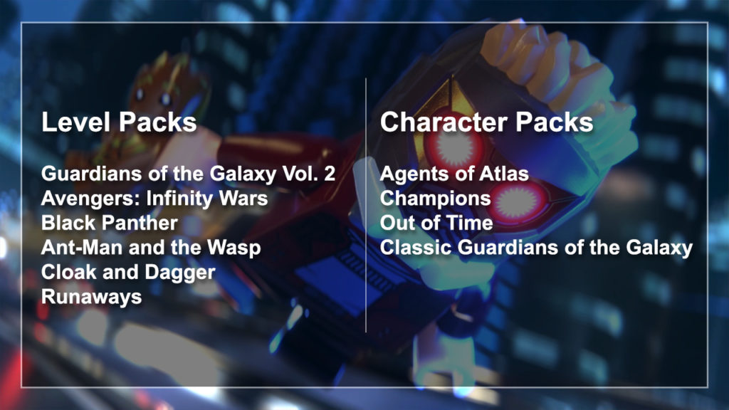 Lego Marvel Super Heroes 2 Season Pass Contents