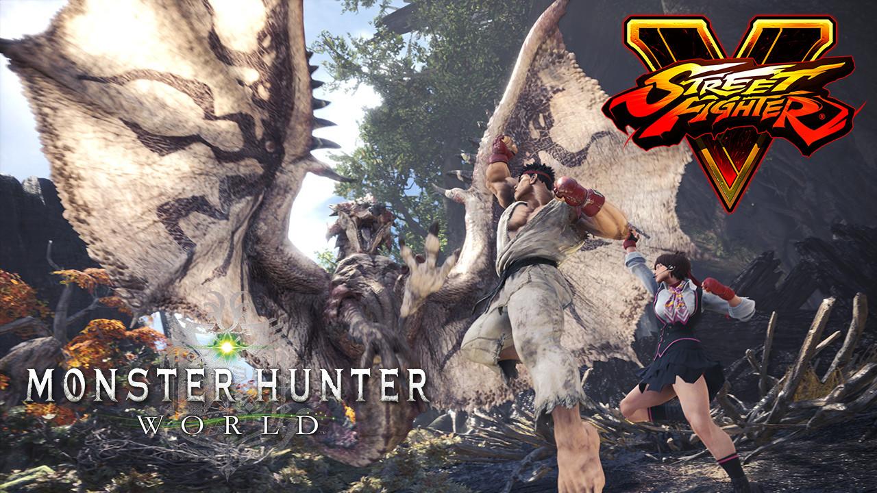 Monster Hunter World x Street Fighter 5