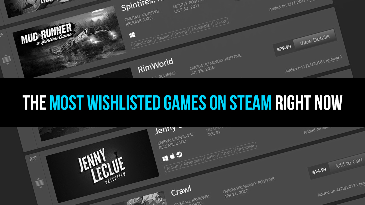 The Most Wishlisted Games on Steam Right Now