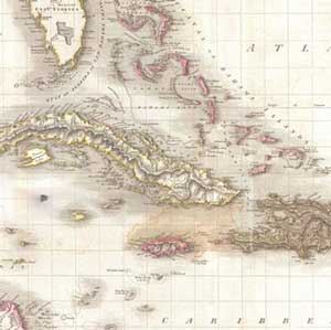 Naval Action Pinkerton mapa de las Indias Occidentales