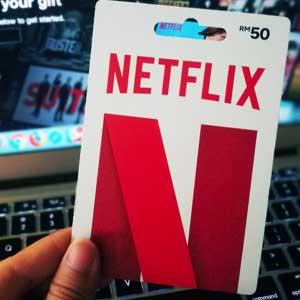 Denominaciones de la tarjeta de regalo Netflix Gift Card