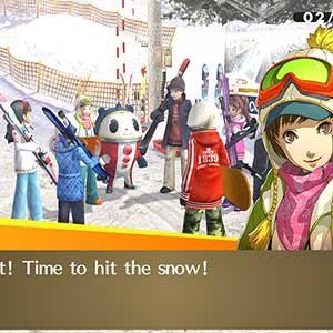 golpeó la nieve