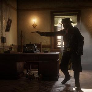 Red Dead Redemption 2 Disparando