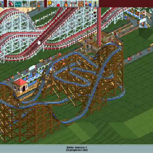 Rollercoaster Tycoon Deluxe Gameplay Image
