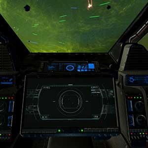 Controles de la nave espacial