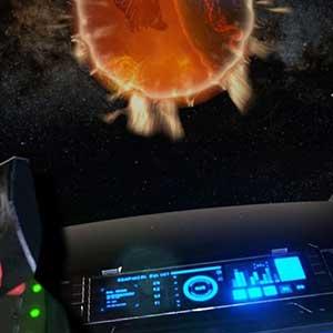 Vista de la bola de fuego desde la nave espacial