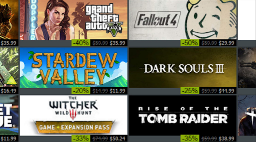 comparar los mejores juegos en Steam