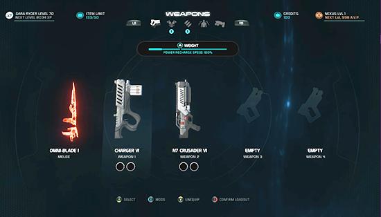 armes de Mass Effect Andromeda