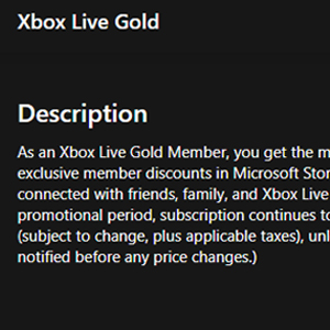 Xbox Live Gold Membership 12 Months Subscription Descripción